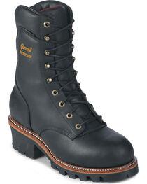 "Chippewa 9"" Insulated Waterproof Super Logger Boots - Steel Toe, , hi-res"