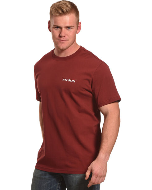 Filson Men's Short Sleeve Outfitter Graphic T-Shirt , Wine, hi-res