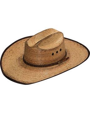 Twister Men's Dark Brown X Design Fired Palm Hat , Dark Brown, hi-res