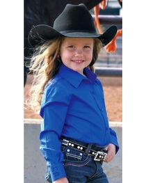 Cruel Girl Girls' Blue Long Sleeve Button Up Top, , hi-res
