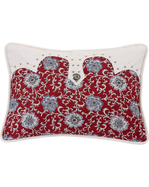 HiEnd Accents Bandera Oblong Concho Accent Pillow, Multi, hi-res