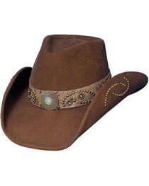 Bullhide Women's Sheila Wool Hat, Chocolate, hi-res