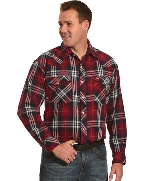 Resistol Men's Red Riverdale Plaid Western Shirt , Red, hi-res