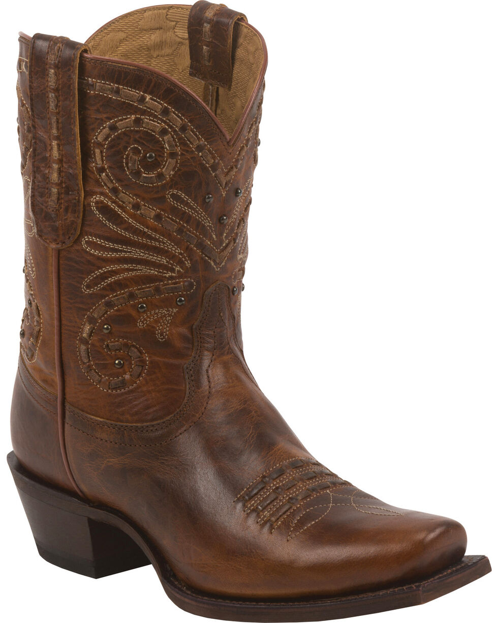Tony Lama Women's 100% Vaquero Western Booties, Tan, hi-res