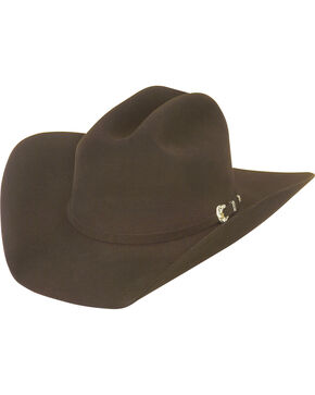 Justin Men's Chocolate 25X The Boss Cowboy Hat , Chocolate, hi-res