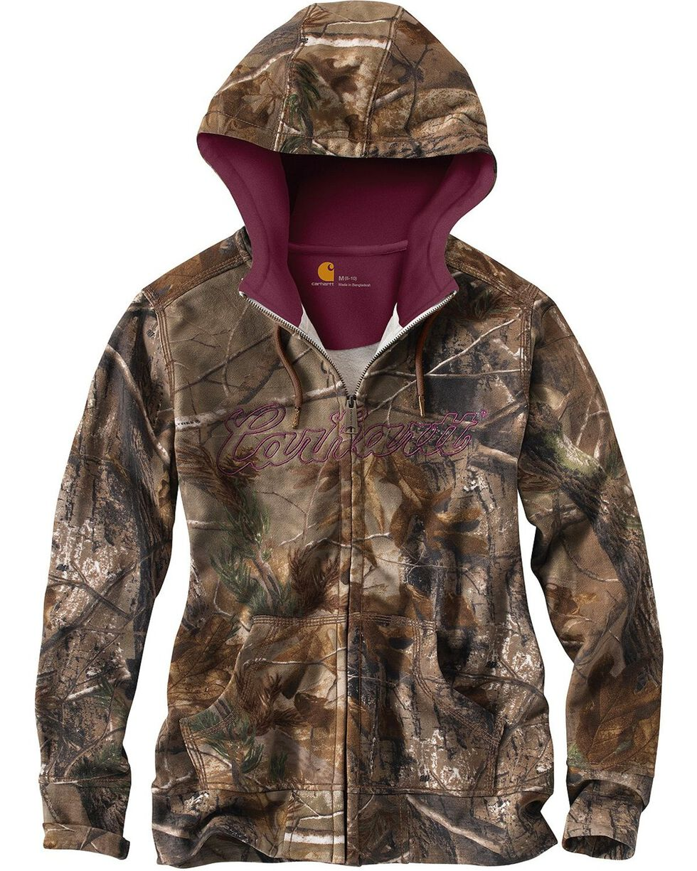 Carhartt Women's Clarksburg Camo Sweatshirt, Camouflage, hi-res