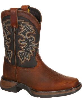 Durango Toddler Boys' Raindrop Western Boots, Tan, hi-res