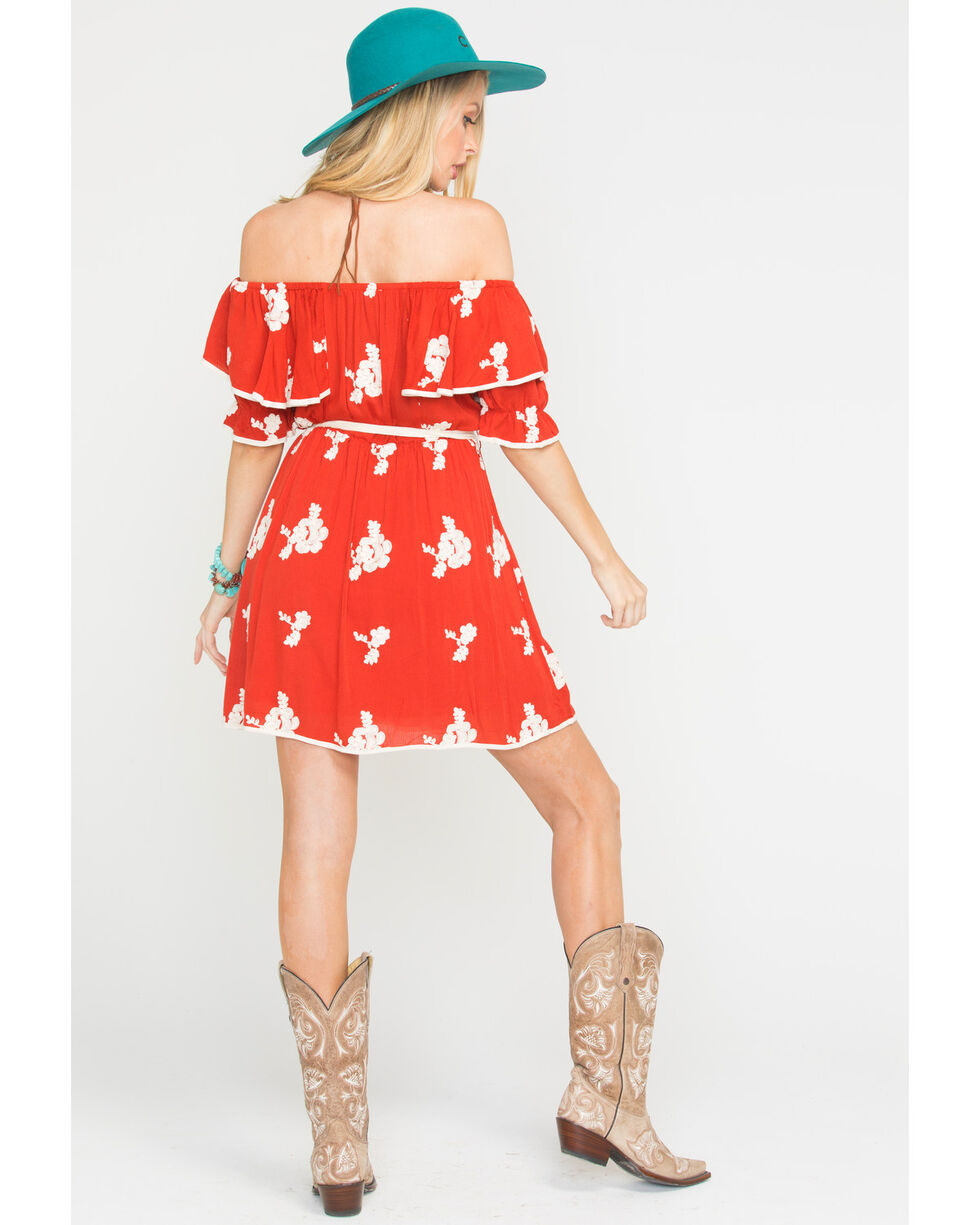 Sage the Label Women's Red Hot In The Shade Dress , Red, hi-res