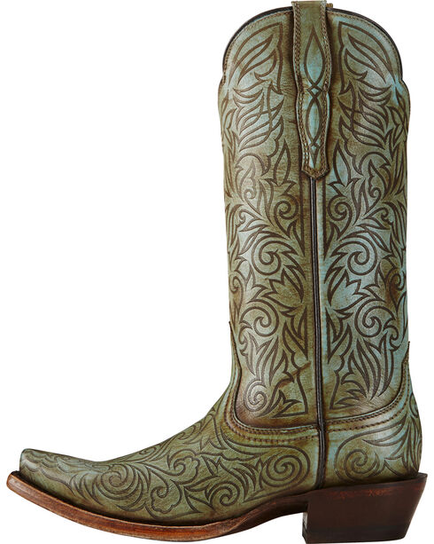 Ariat Women's Sterling Western Boots, Turquoise, hi-res
