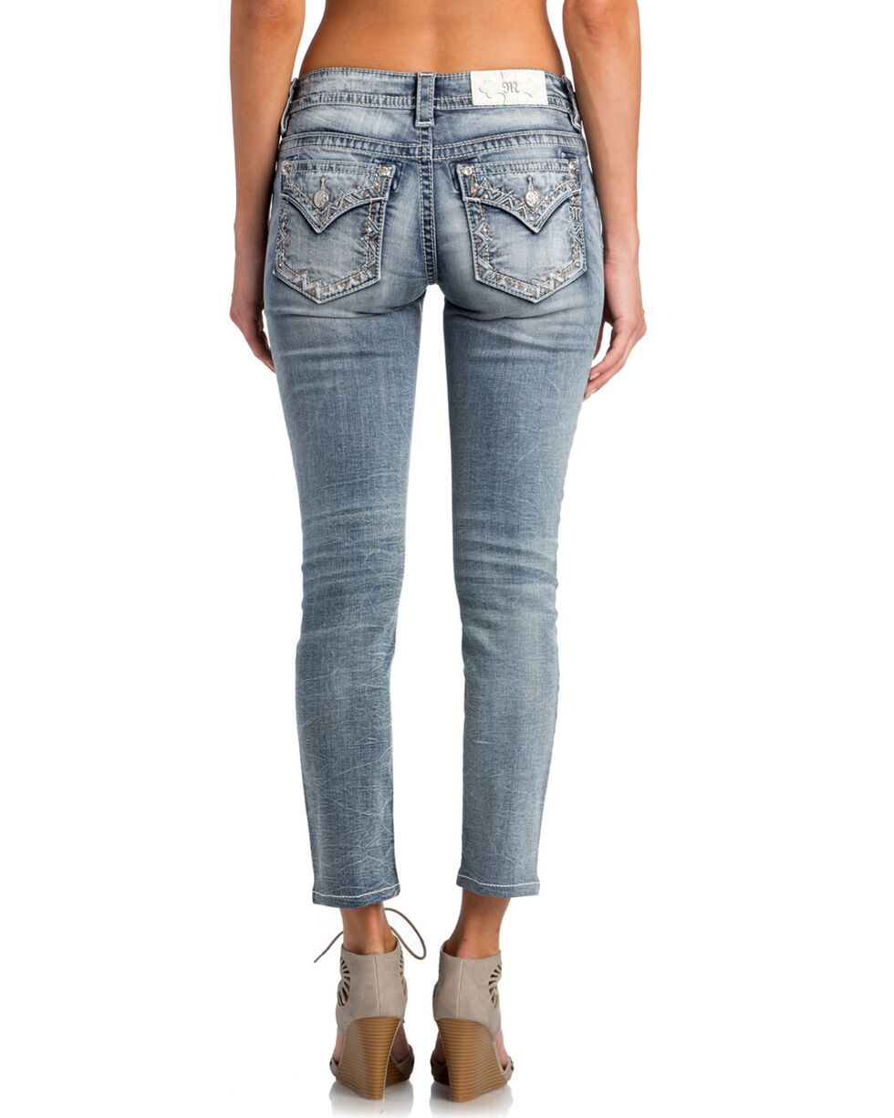 Miss Me Women's Out Of Bounds Mid-Rise Ankle Skinny Jeans, Indigo, hi-res