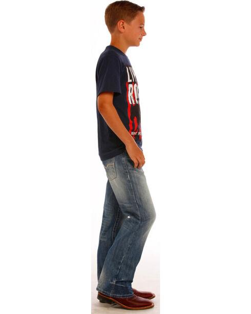 """Rock & Roll Boys' Small """"V"""" Slim Jeans - Boot Cut, Indigo, hi-res"""