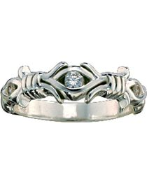 Montana Silversmiths Women's Barbed Wire Solitaire Ring, , hi-res