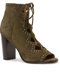 Frye Women's Forest Gabby Ghillie Stud Booties - Round Toe, , hi-res