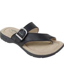 Eastland Women's Black Tahiti II Thong Sandals , , hi-res