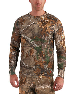 Carhartt Men's Base Force Extremes Cold Weather Camo Crewneck Shirt -Big, Camouflage, hi-res