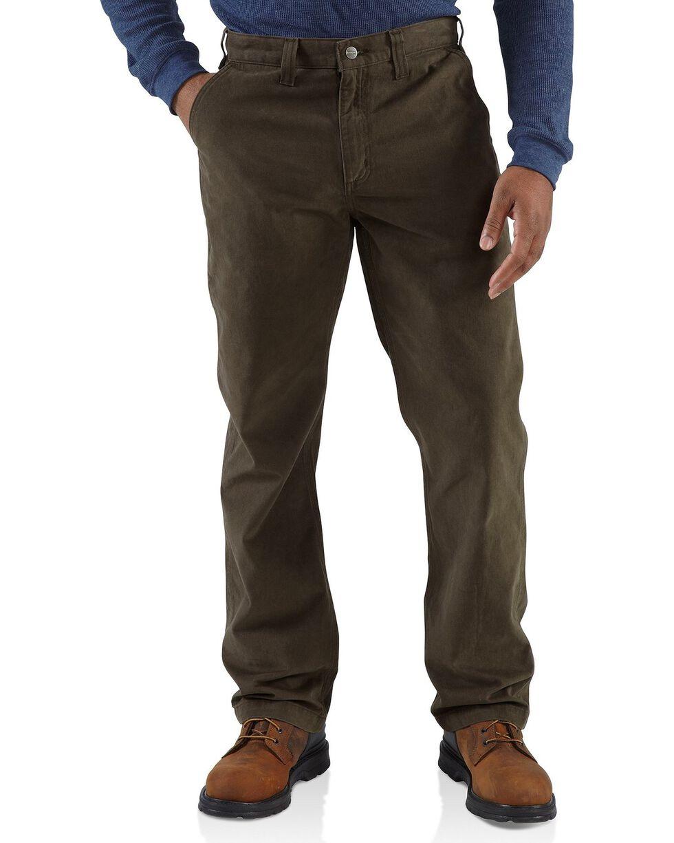Carhartt Men's Rugged Work Khaki Pants, Coffee, hi-res