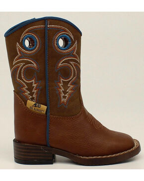 Double Barrel Boys' Zip Dylan Boots - Square Toe, Rust, hi-res