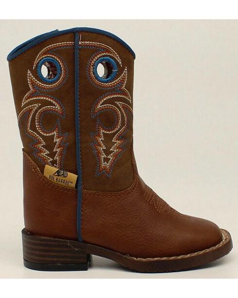 Double Barrel Boys' Zip Dylan Boots - Square Toe, Rust, hi-res