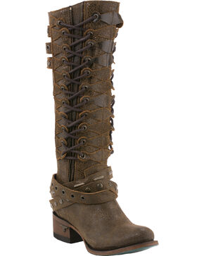 Lane Women's Ghillegan Leather Western Boots, Brown, hi-res