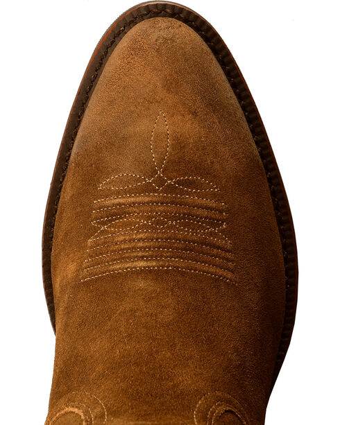 Ariat Men's Suede Heritage Western R Toe Boots, Antique Chocolate, hi-res