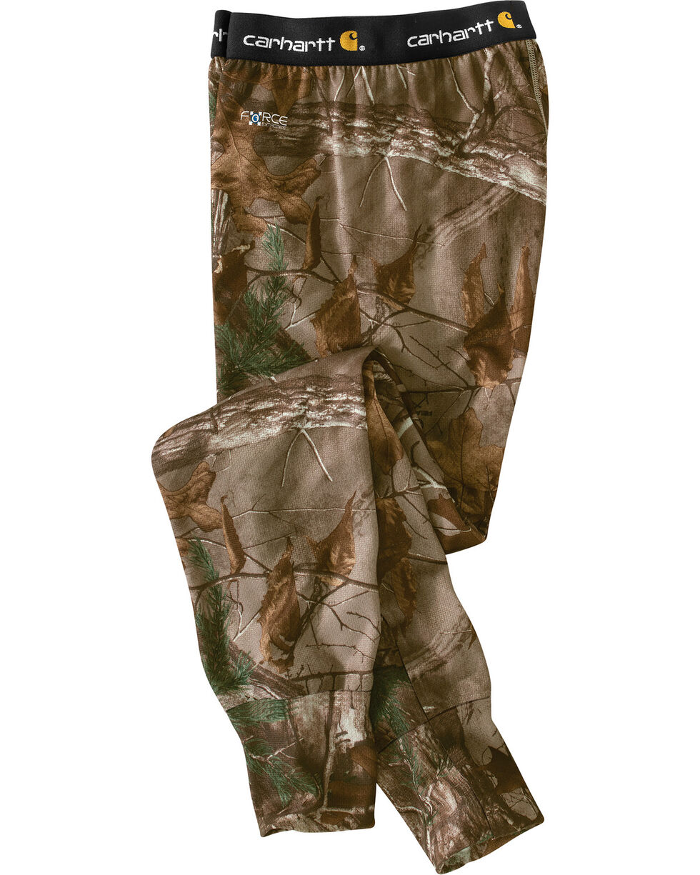 Carhartt Men's Camo Base Force Extremes Cold Weather Bottoms , Camouflage, hi-res