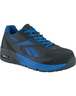 Reebok Men's Beviad Jogger Work Shoes - Composite Toe, Blue, hi-res