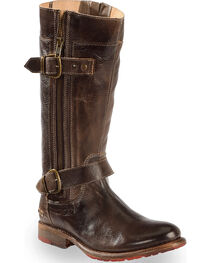 Bed Stu Women's Brown Gogo Lug Strap Boots - Round Toe , , hi-res