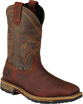 Red Wing Irish Setter Marshall Brown Work Boots - Steel Toe , Brown, hi-res