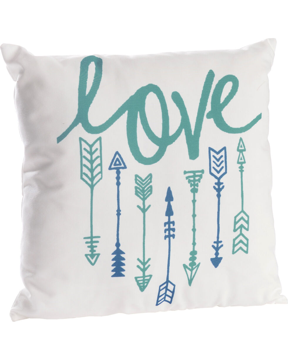 BB Ranch Love and Arrows Pillow, No Color, hi-res