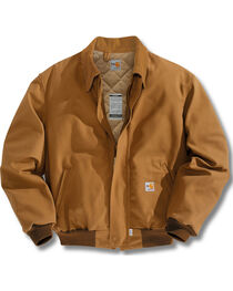 Carhartt Men's Flame-Resistant Duck Bomber Jacket - Big & Tall, , hi-res