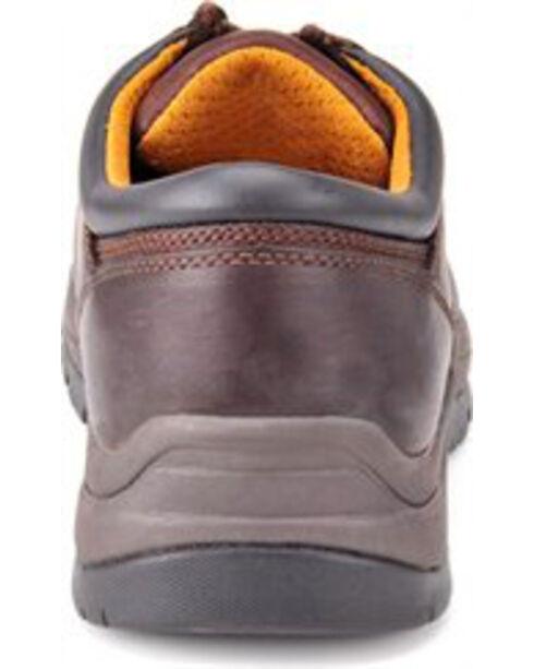 Carolina Men's Dark Brown ESD Oxford Shoe - Non-Metallic Composite Broad Toe, Dark Brown, hi-res