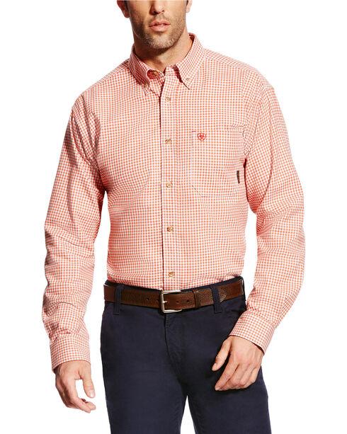 Ariat Men's FR Logan Long Sleeve Work Shirt, Red, hi-res