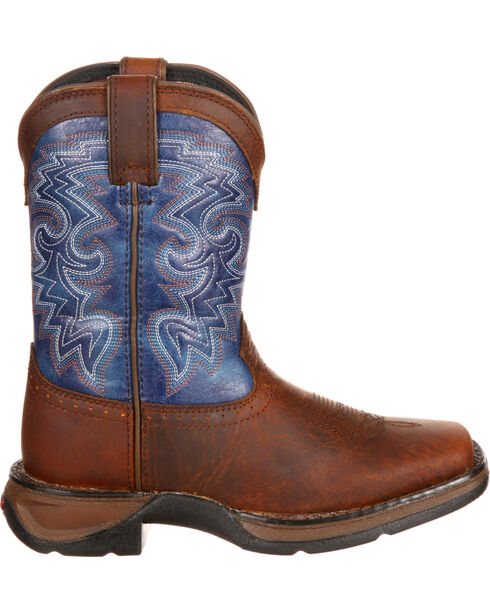 Durango Toddler Boys' Two Toned Western Boots, Dark Brown, hi-res