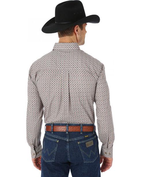 Wrangler George Strait Chestnut and Red Print Western Shirt, Chestnut, hi-res