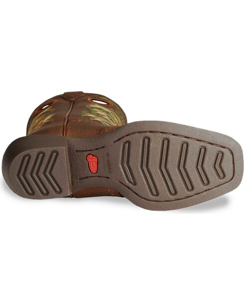 Justin Junior's Stampede Western Boots, Dark Brown, hi-res