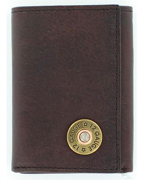 Nocona Men's 12 Gauge Tri-Fold Wallet, Brown, hi-res