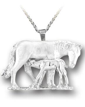 Kelly Herd Women's Silver Mare & Foal Pendant Necklace , Silver, hi-res
