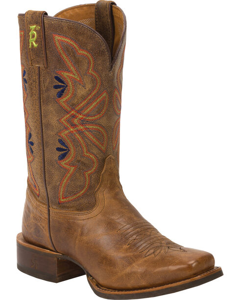 Tony Lama Women's 3R Stockman Western Boots, Honey, hi-res