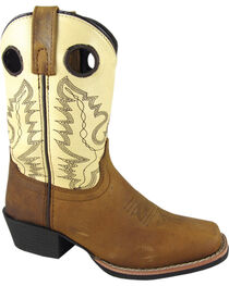 Smoky Mountain Kid's Square Toe Western Boots, , hi-res