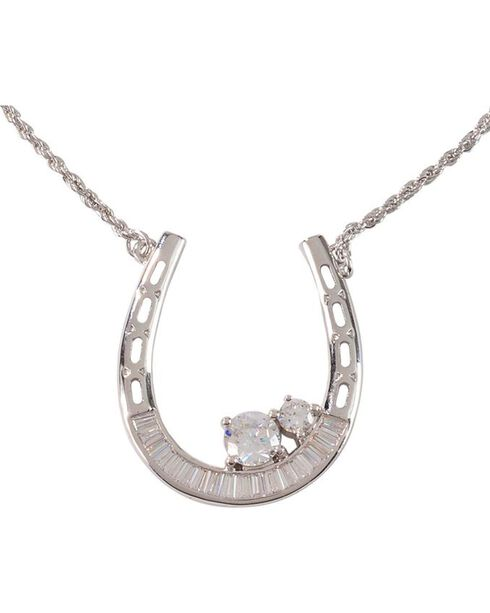 Montana Silversmiths Women's One For Me and One For You Horseshoe Necklace, Silver, hi-res
