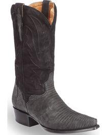 El Dorado Men's Lizard Black Cowboy Boots - Snip Toe , , hi-res