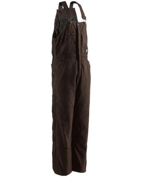 Berne Men's Original Washed Insulated Bib Overalls, Bark, hi-res