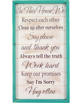 BB Ranch® House Rules Wall Sign , No Color, hi-res