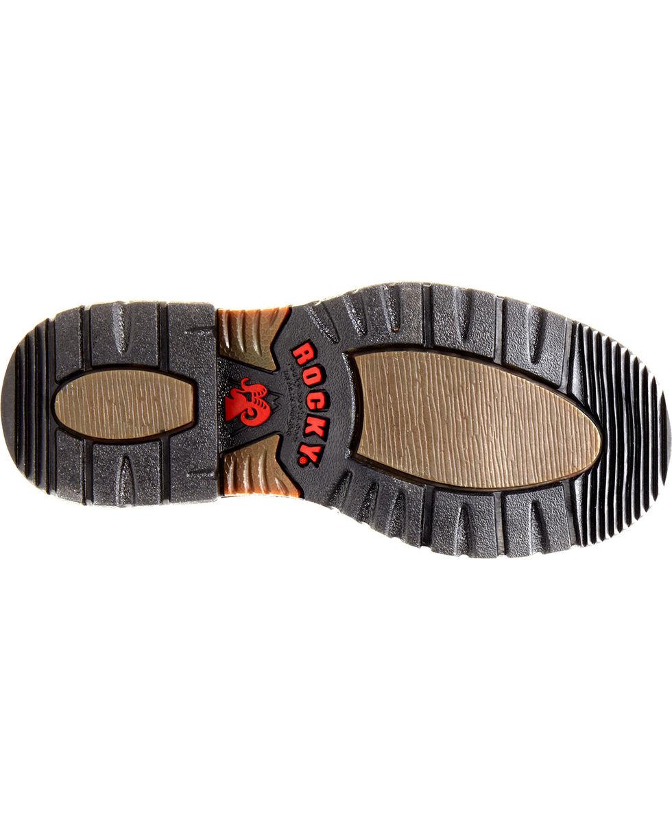 Rocky Children's Branson Roper Western Boots - Round Toe, Tan, hi-res