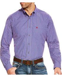 Ariat Men's Brewton Pro Series Classic Fit Long Sleeve Shirt - Big & Tall, , hi-res
