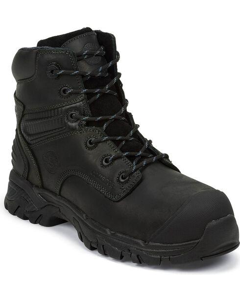 "Justin Men's Work Tek 6"" Waterproof Lace-Up Work Boots, Black, hi-res"
