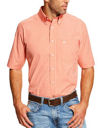 Ariat Men's Check Patterned Short Sleeve Shirt, , hi-res