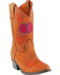 Gameday Boots Girls' University of Mississippi Western Boots - Medium Toe, , hi-res