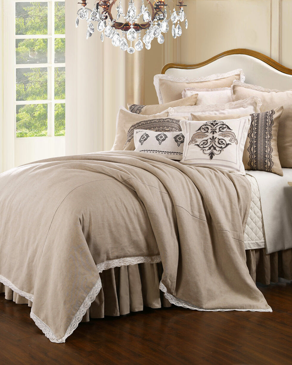 HiEnd Accents Cream Charlotte Bedding Collection - Queen, Cream, hi-res