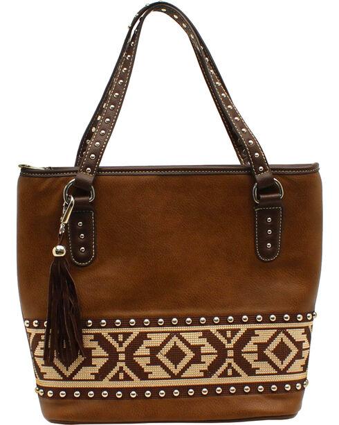 Nocona Women's Aztec Tote Bag, Brown, hi-res